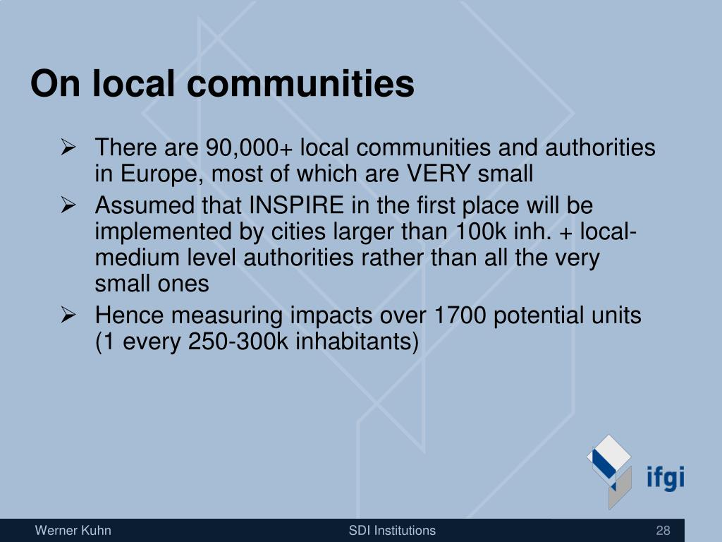 On local communities