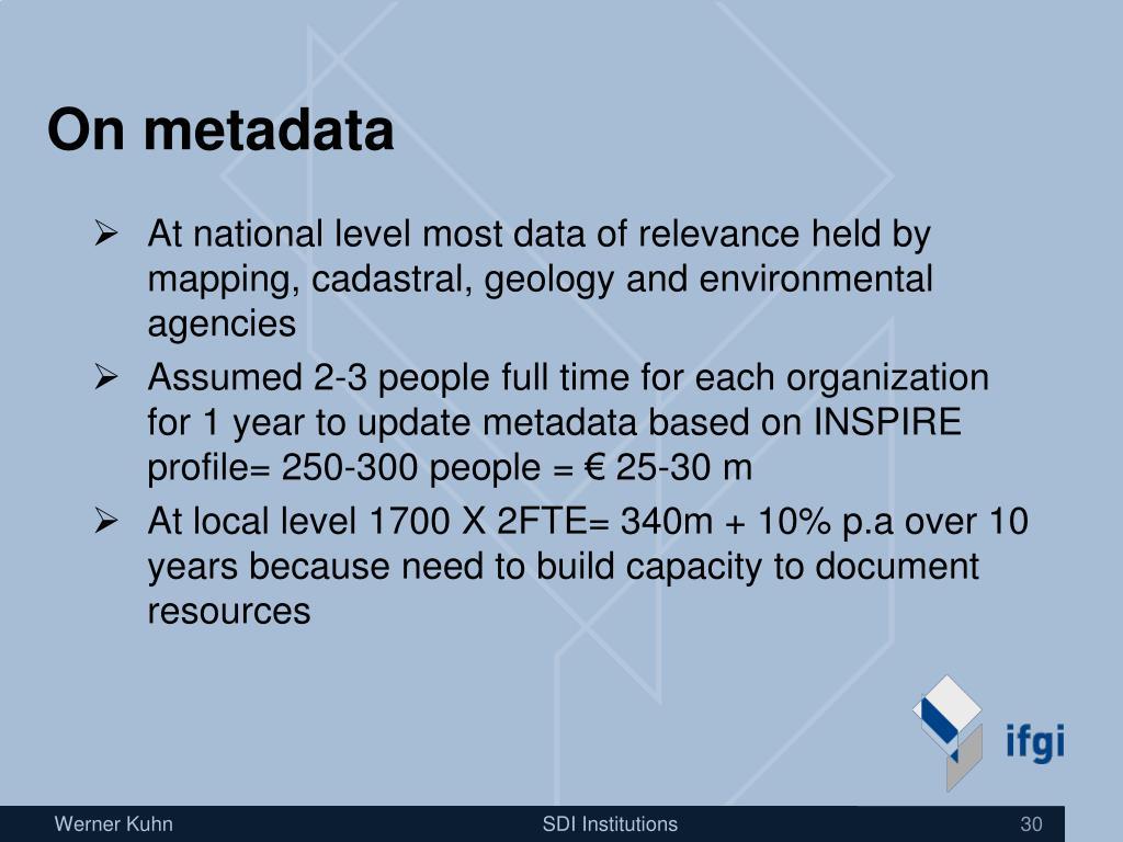 On metadata