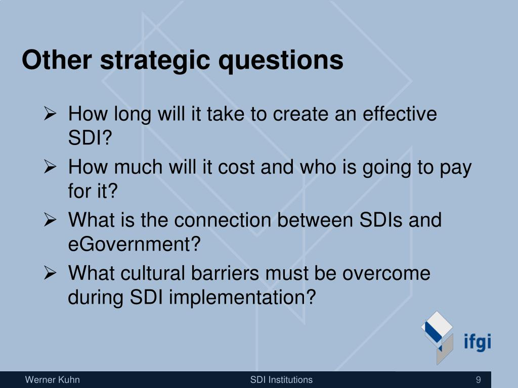 Other strategic questions
