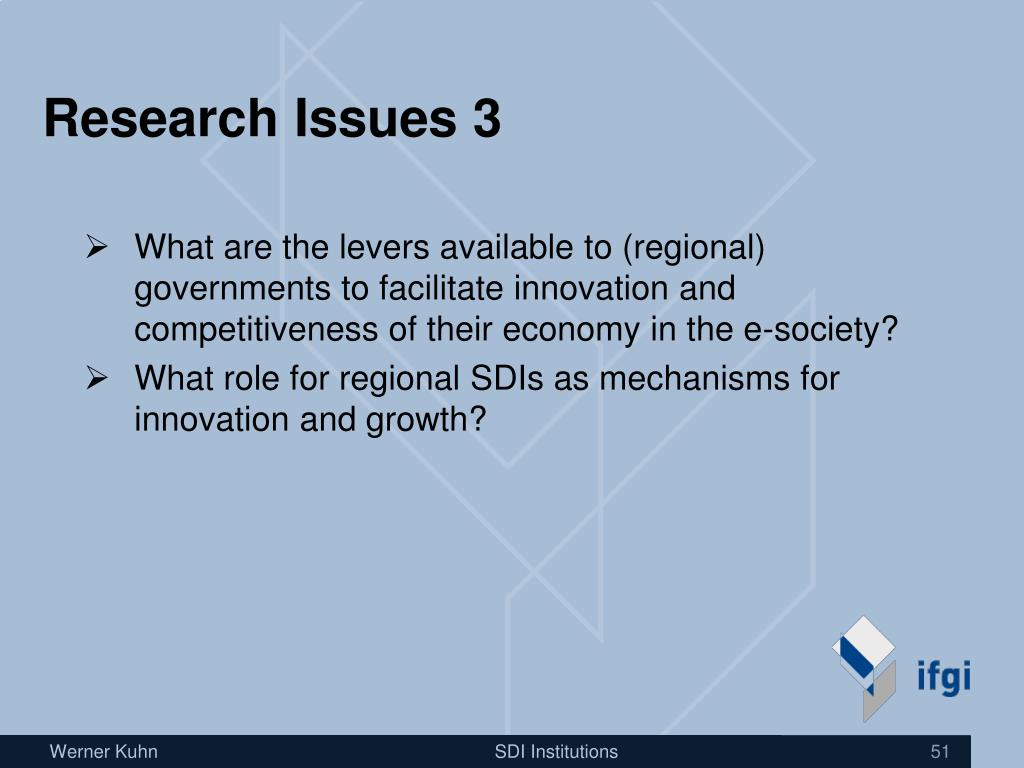 Research Issues 3
