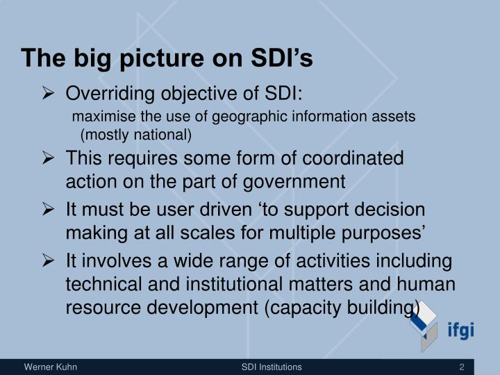 The big picture on sdi s