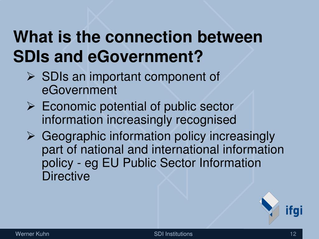 What is the connection between SDIs and eGovernment?