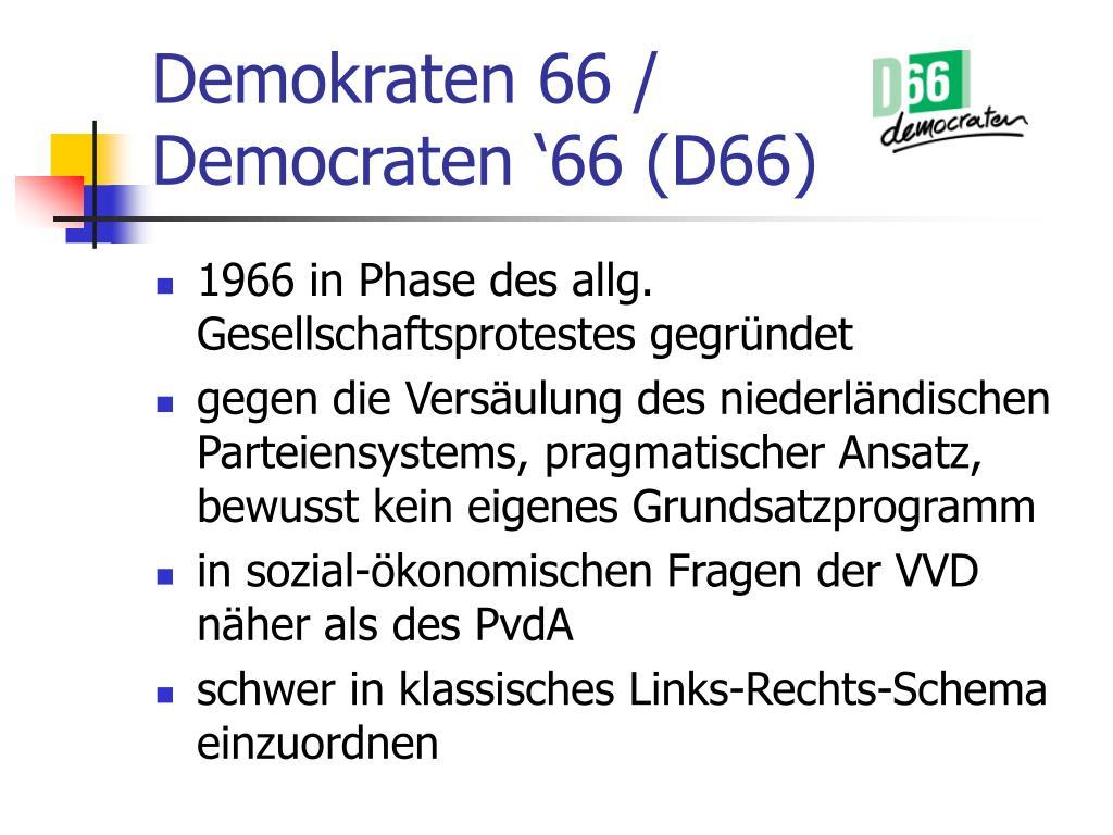 Demokraten 66 /