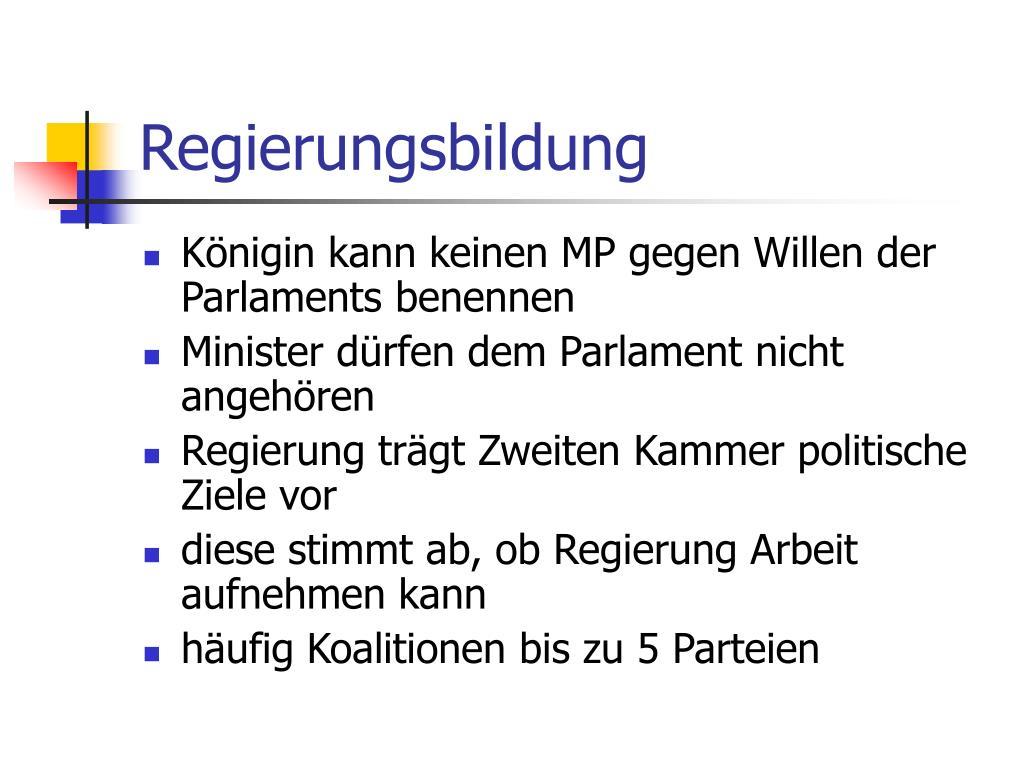 Regierungsbildung