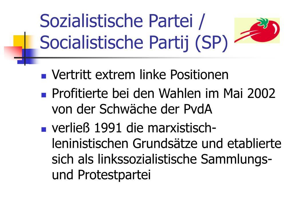 Sozialistische Partei / Socialistische Partij (SP)