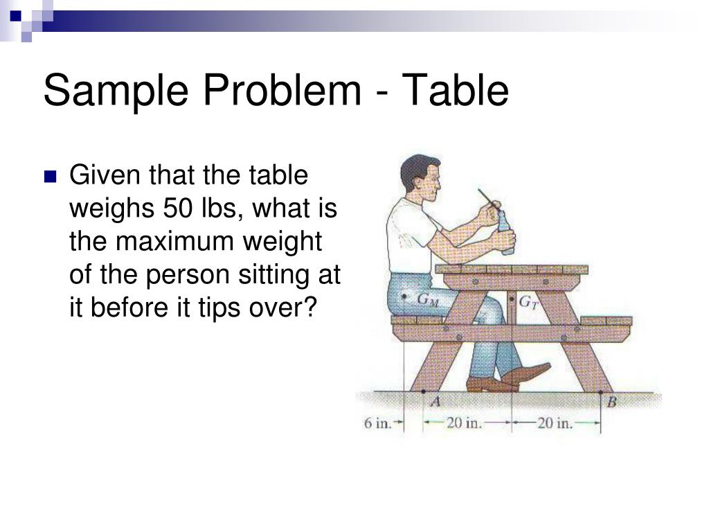 Sample Problem - Table
