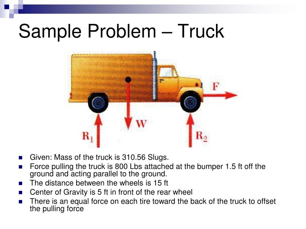 Sample Problem – Truck