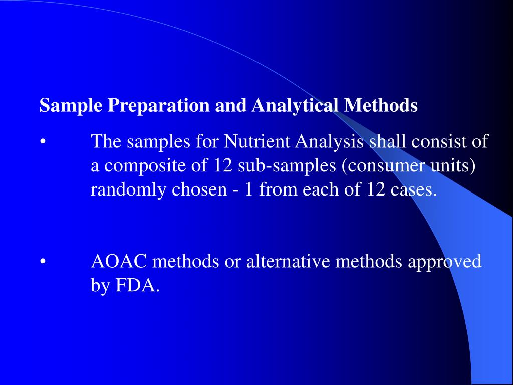Sample Preparation and Analytical Methods