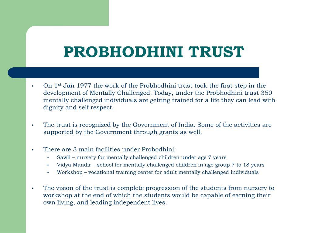 PROBHODHINI TRUST