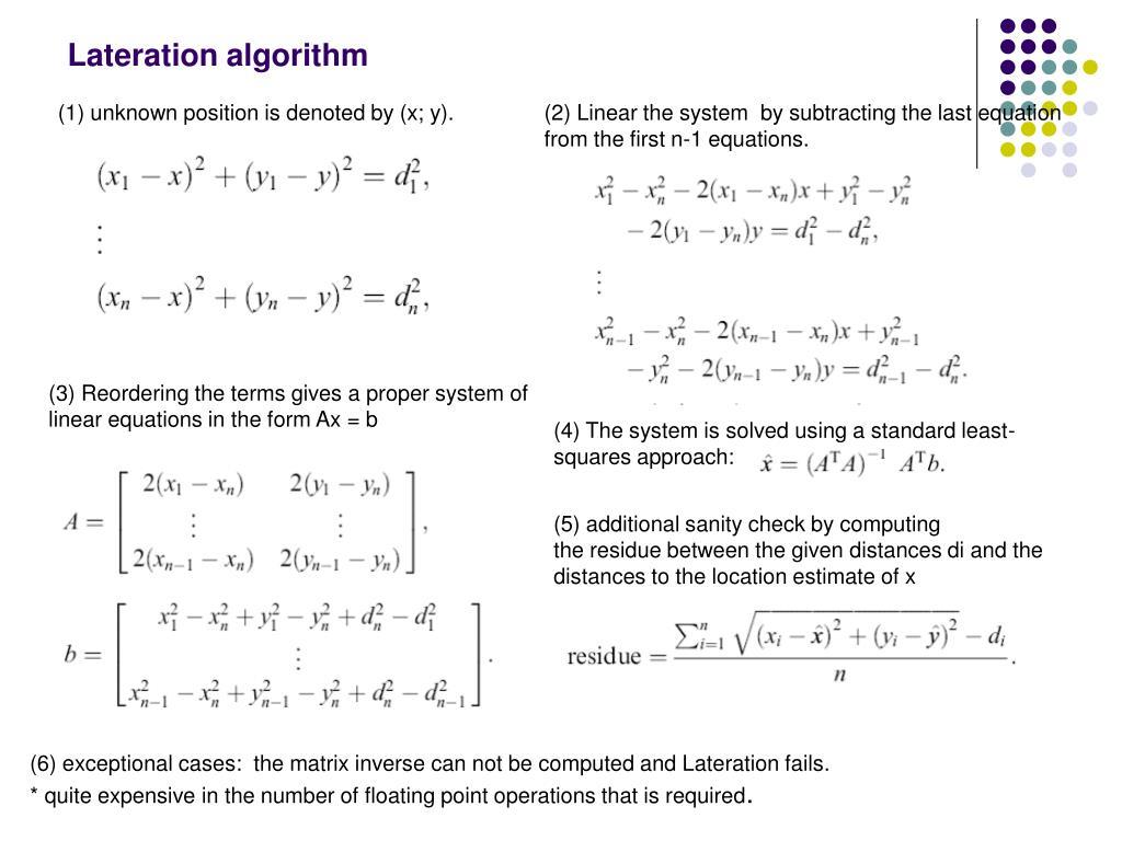Lateration algorithm