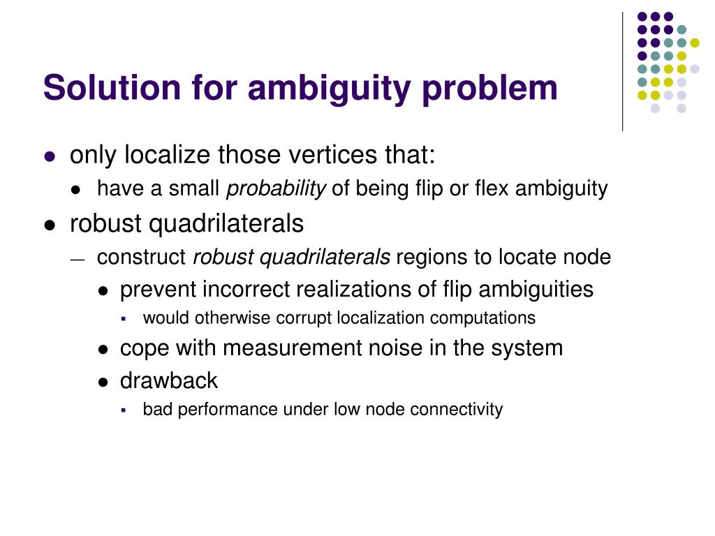 Solution for ambiguity problem
