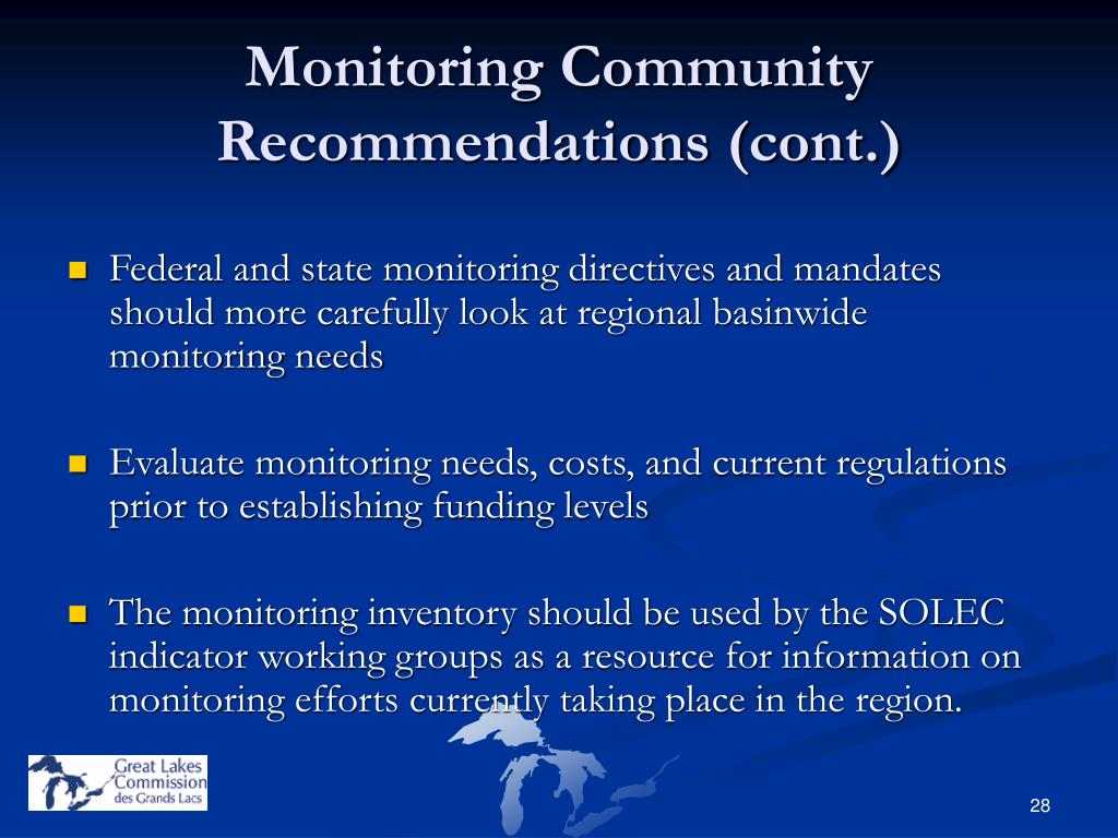 Monitoring Community Recommendations (cont.)