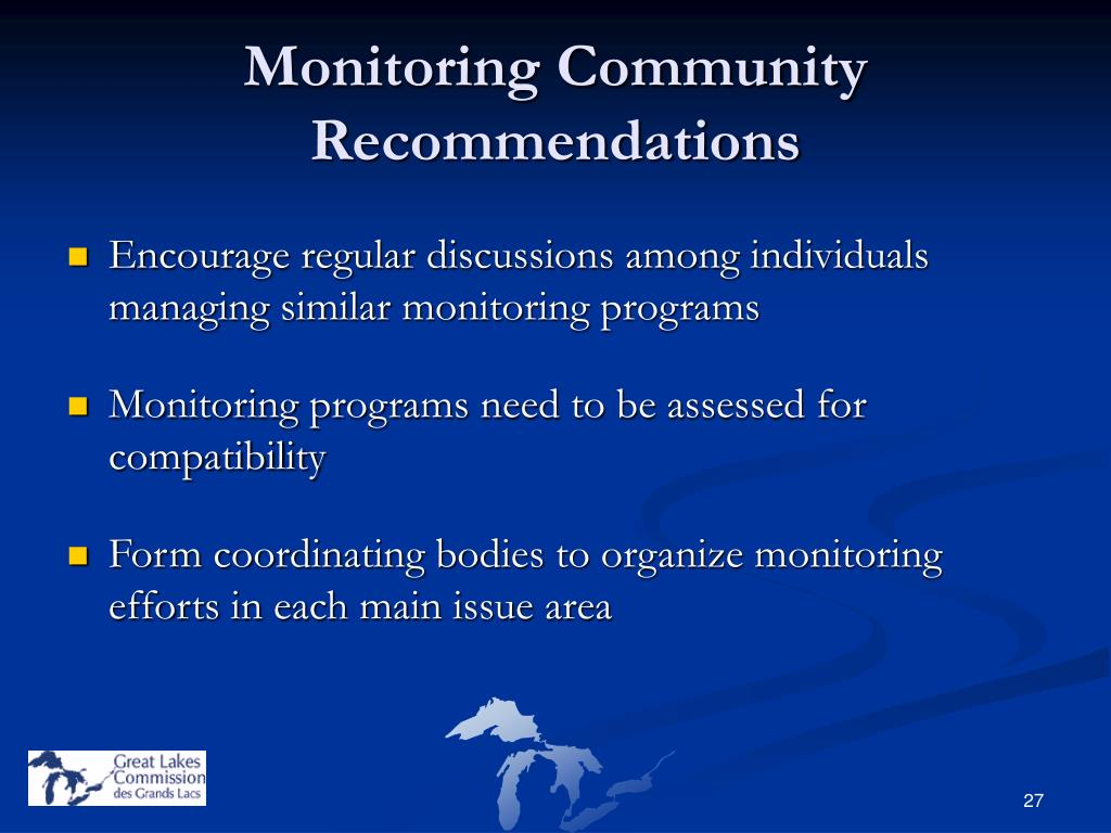 Monitoring Community Recommendations