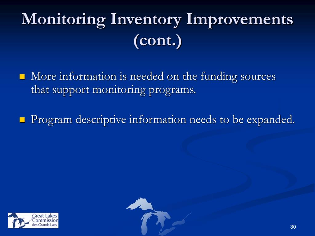 Monitoring Inventory Improvements (cont.)