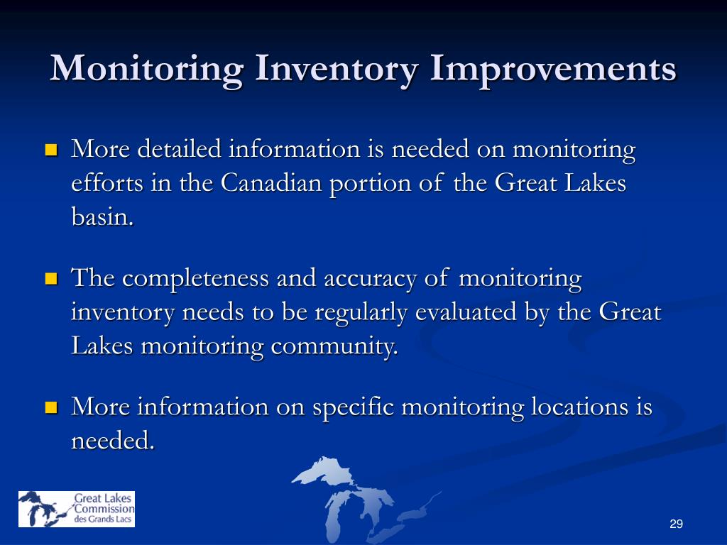 Monitoring Inventory Improvements