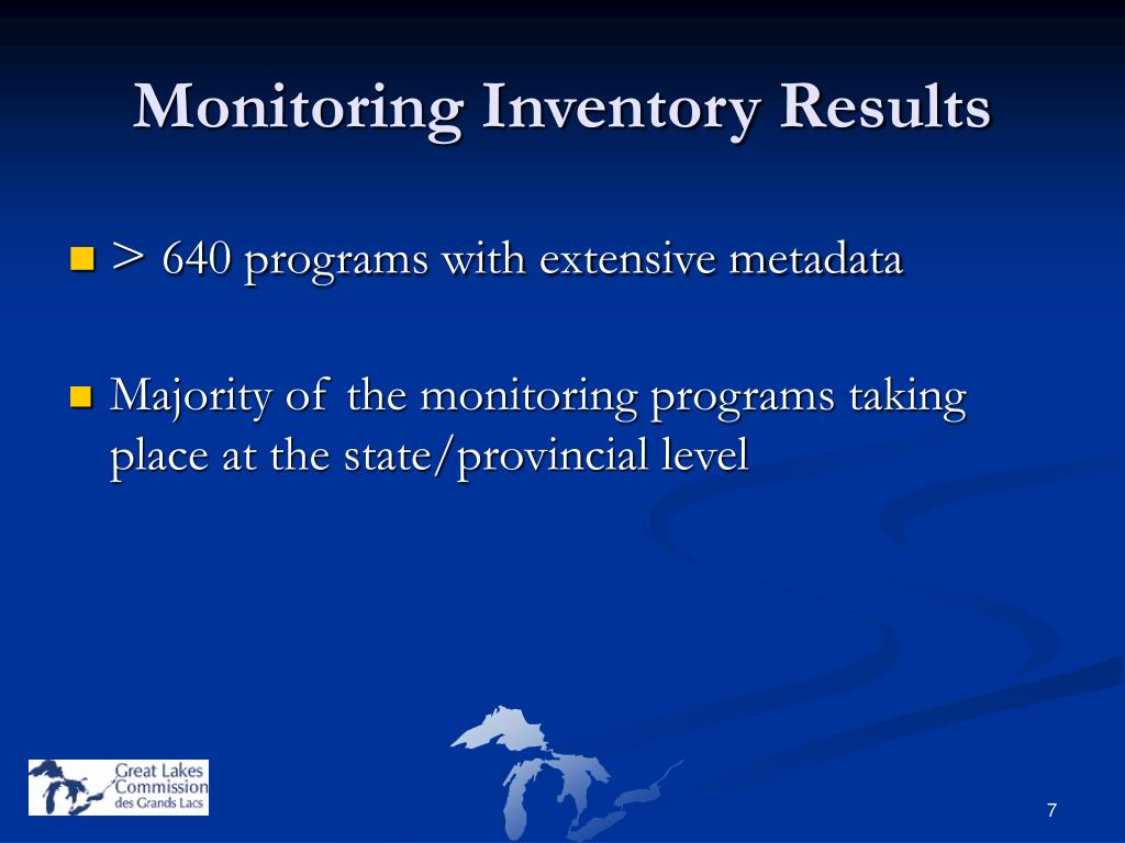 Monitoring Inventory Results