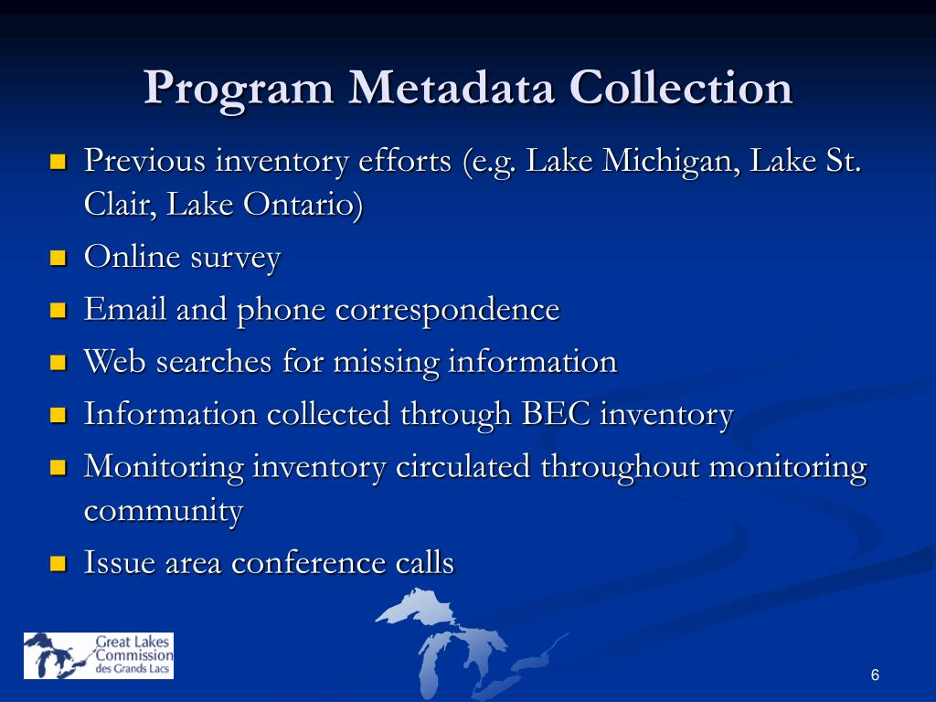 Program Metadata Collection