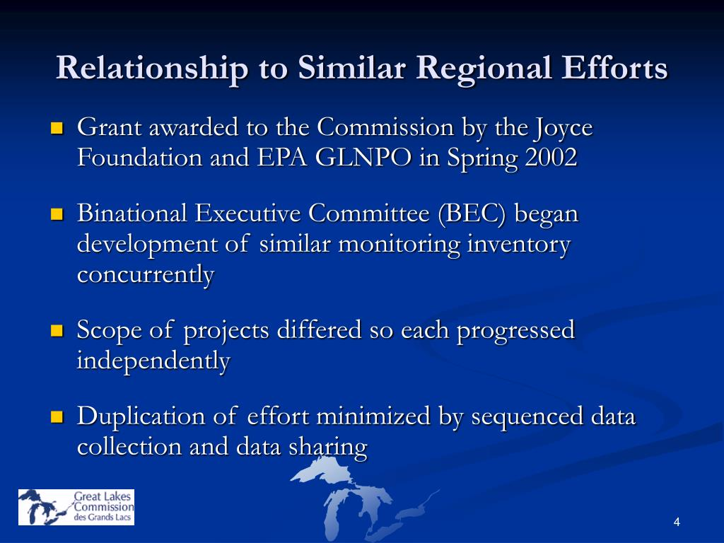 Relationship to Similar Regional Efforts