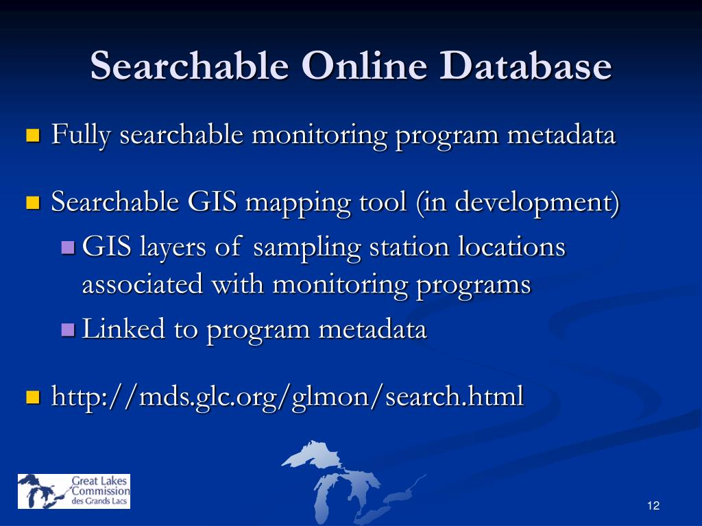 Searchable Online Database