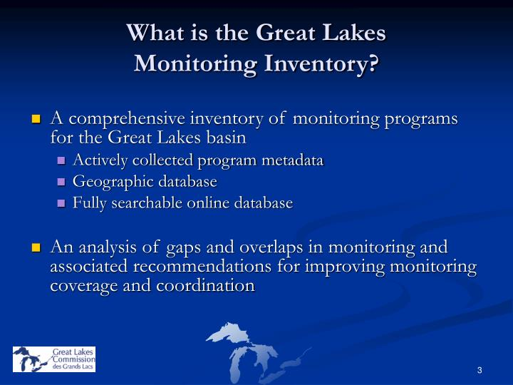 What is the great lakes monitoring inventory