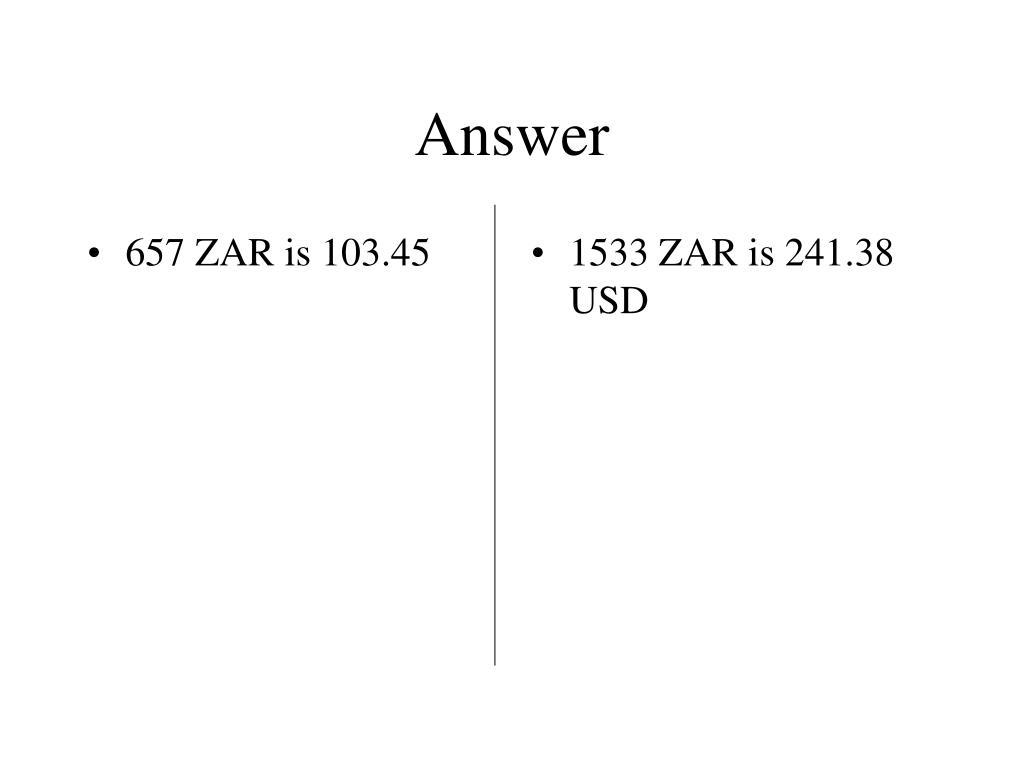 657 ZAR is 103.45