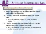 backpropagation neural network