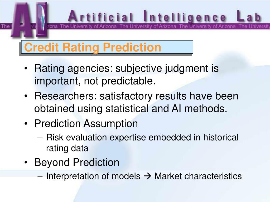 Credit Rating Prediction