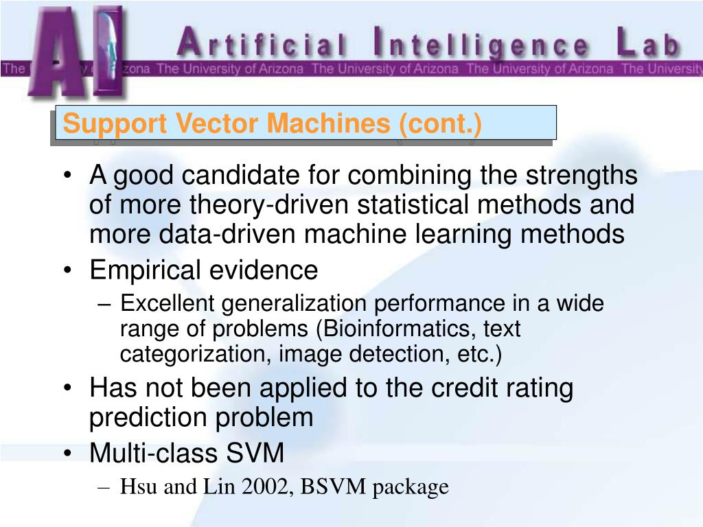 Support Vector Machines (cont.)