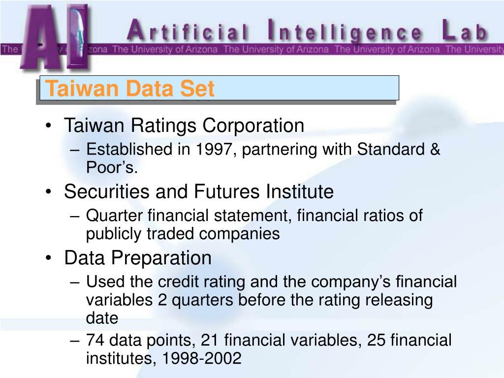 Taiwan Data Set