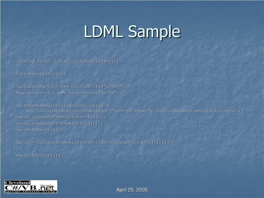 LDML Sample
