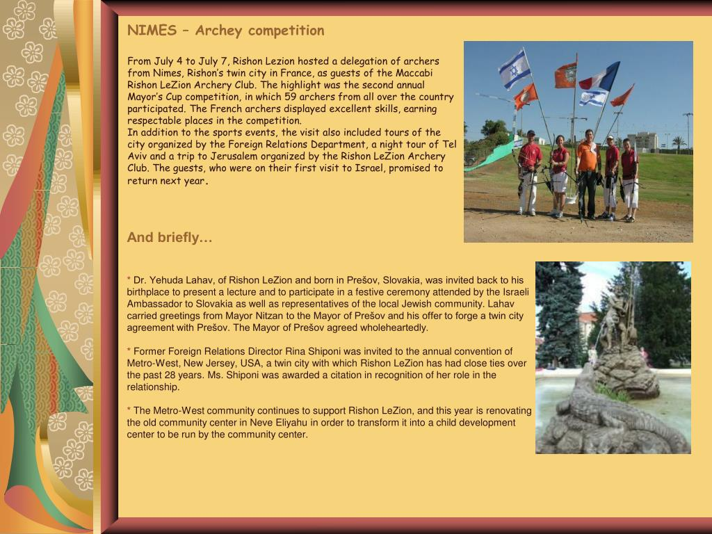 NIMES – Archey competition