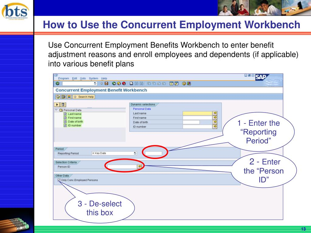 How to Use the Concurrent Employment Workbench