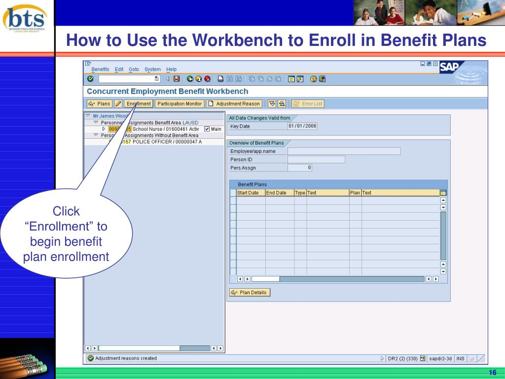 How to Use the Workbench to Enroll in Benefit Plans