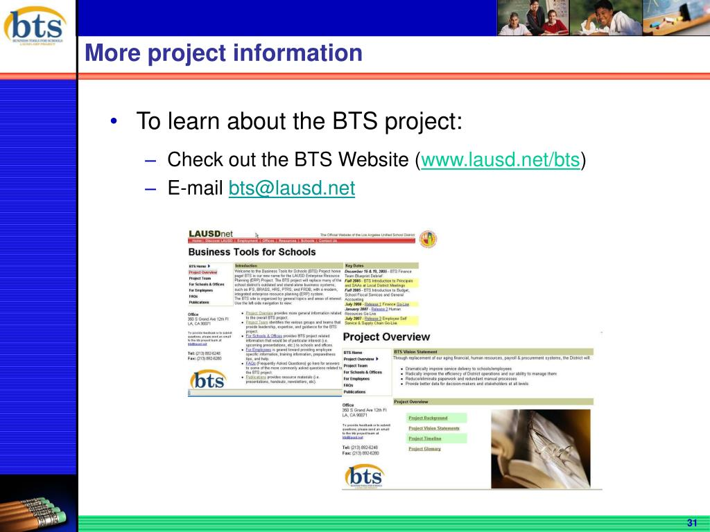 More project information