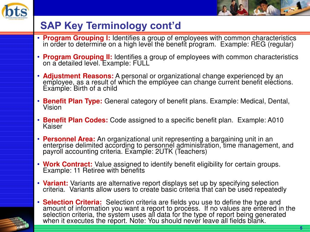 SAP Key Terminology cont'd