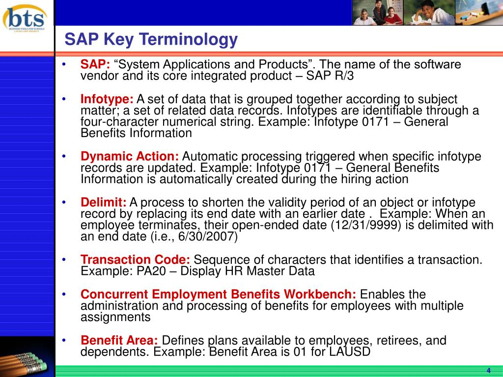 SAP Key Terminology