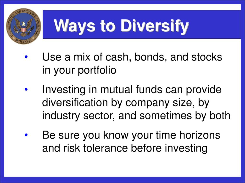 Ways to Diversify