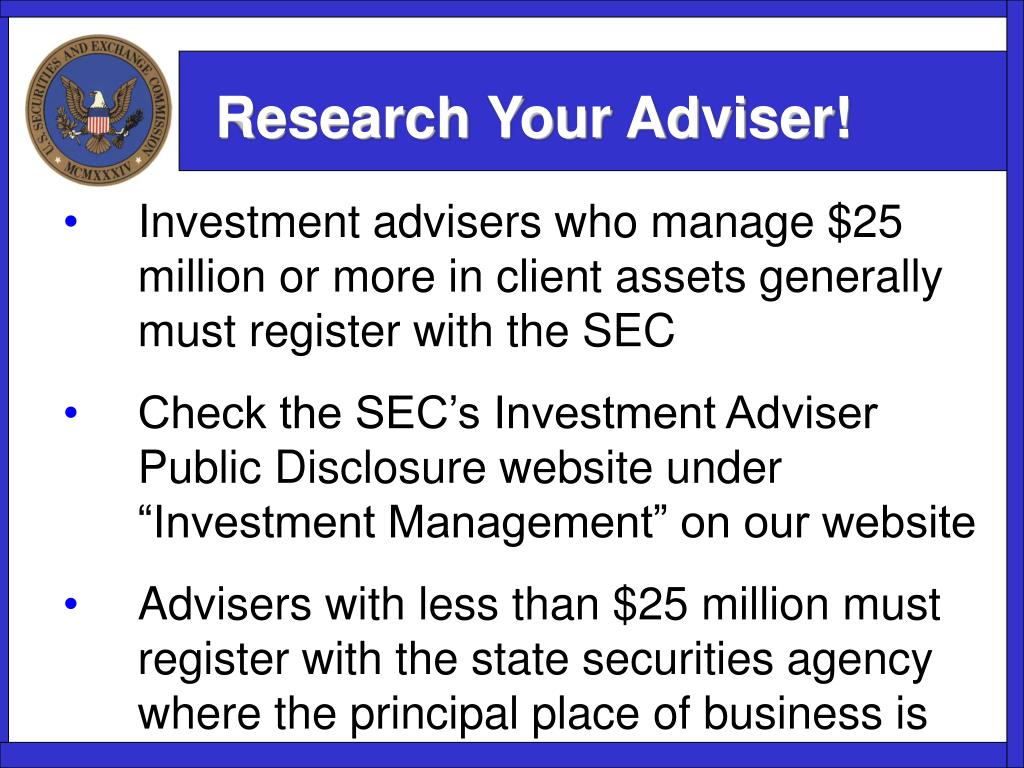 Research Your Adviser!