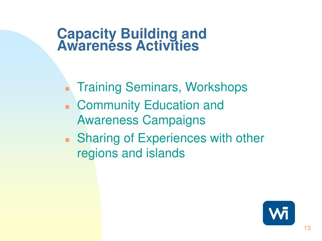 Capacity Building and Awareness Activities