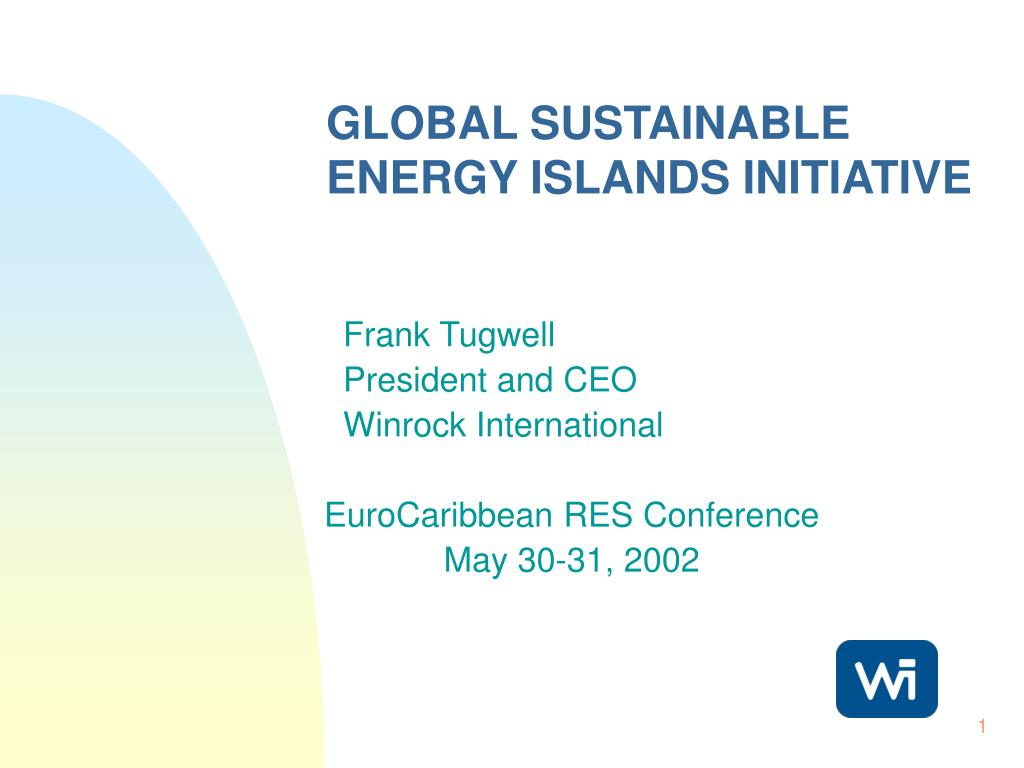 GLOBAL SUSTAINABLE ENERGY ISLANDS INITIATIVE