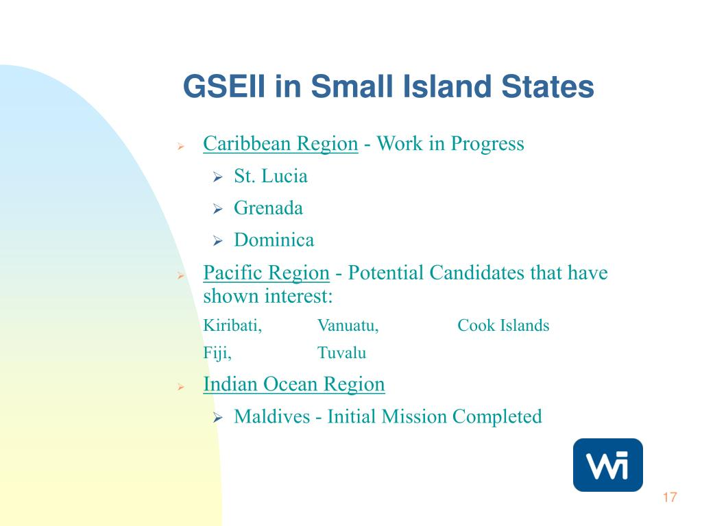 GSEII in Small Island States