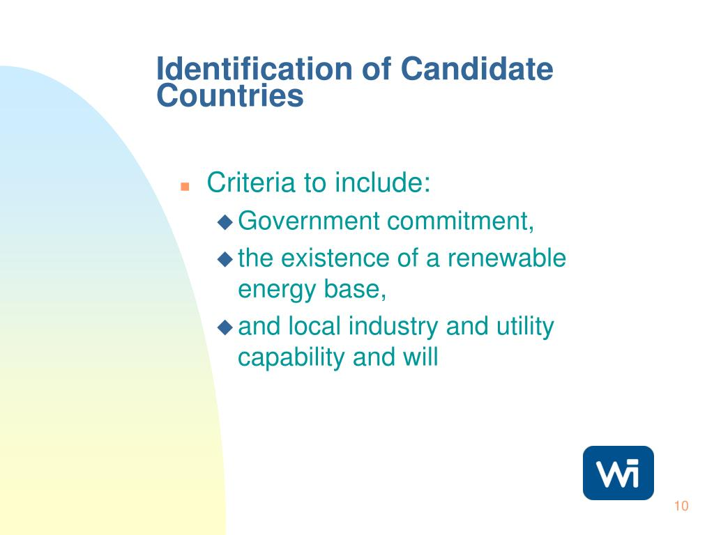 Identification of Candidate Countries