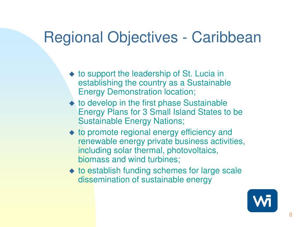 Regional Objectives - Caribbean