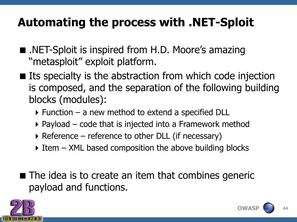 Automating the process with .NET-Sploit