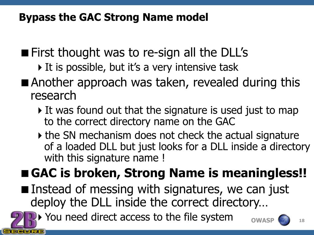 Bypass the GAC Strong Name model