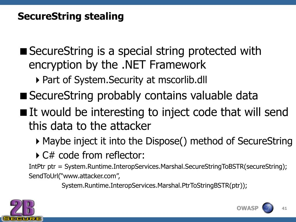 SecureString stealing