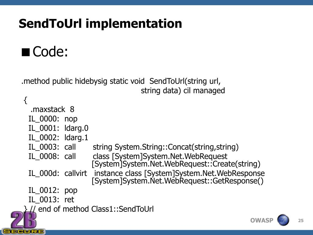 SendToUrl implementation