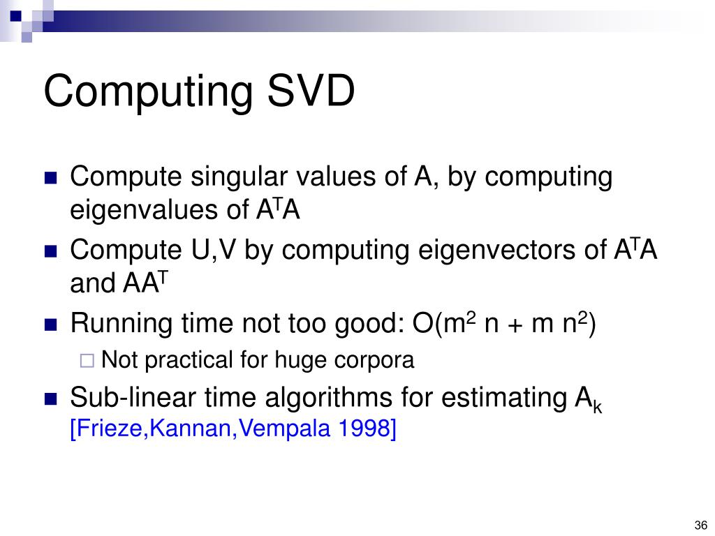Computing SVD