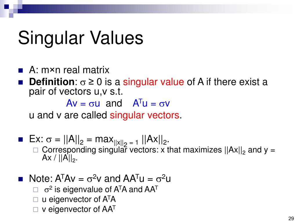 Singular Values